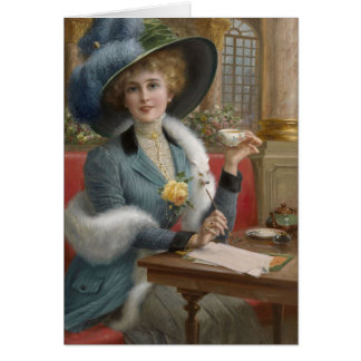 Lady at a Writing Desk, Card