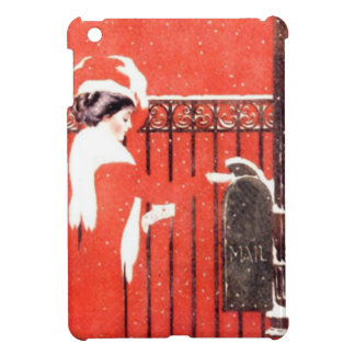 Lady at the mailbox cover for the iPad mini