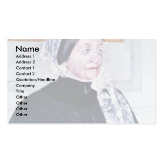 Lady At The Tea Table By Cassatt Mary (Best Qualit Business Card Template