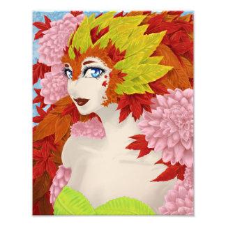 Lady Autumn Photographic Print