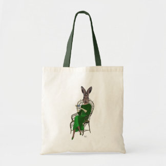 Lady Bella Rabbit Taking Tea 4 Tote Bag