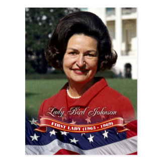 Lady Bird Johnson, First Lady of the U.S. Postcard