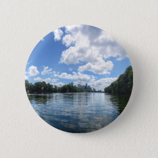 Lady Bird Lake Panorama - Austin - Texas 6 Cm Round Badge