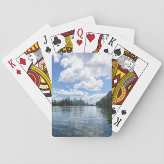 Lady Bird Lake Panorama - Austin - Texas Playing Cards