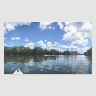 Lady Bird Lake Panorama - Austin - Texas Rectangular Sticker
