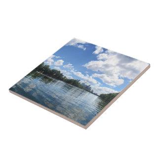 Lady Bird Lake Panorama - Austin - Texas Tile