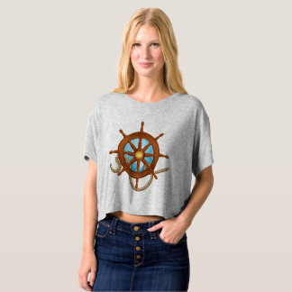 Lady blouse with to traveler to rudder design T-Shirt