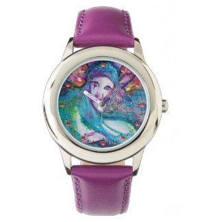 LADY BLUE MASK Elegant Venetian Masquerade Wrist Watch