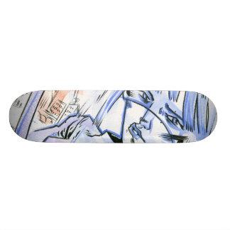 """Lady Blue"" Skate Deck"