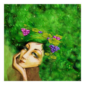 Lady Bordeaux Art Poster
