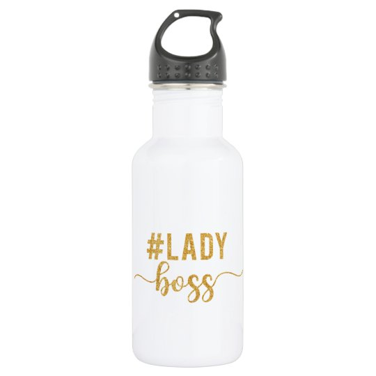 lady boss gold glitter 532 ml water bottle