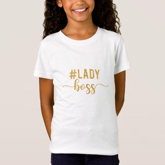 lady boss gold glitter T-Shirt