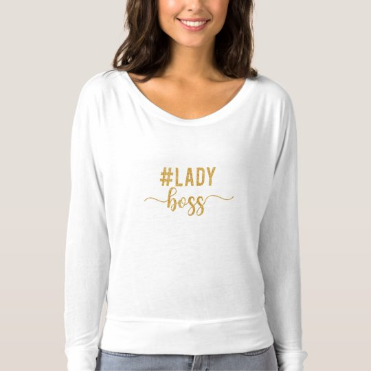 lady boss gold glitter T-Shirt