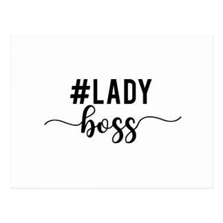 lady boss postcard