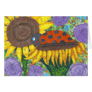 Lady Bug Afternoon Notecard