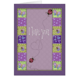 Lady bug and butterfly card