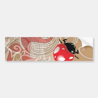 Lady Bug Art Car Bumper Sticker