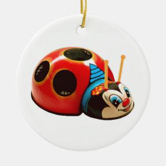 Lady Bug Ceramic Ornament