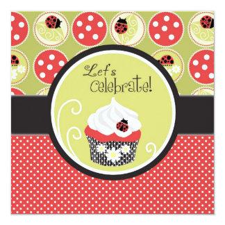 Lady Bug & Cupcake Birthday Card