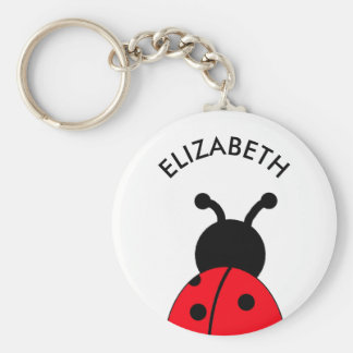 Lady Bug Custom Key Chain, Personalized With Name Key Ring