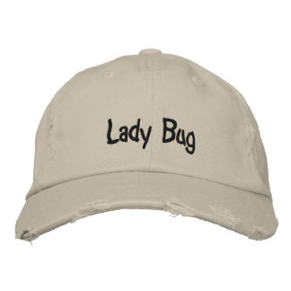 Lady Bug Dark Text Baseball Cap