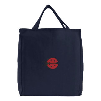 Lady Bug Embroidered Tote Bags