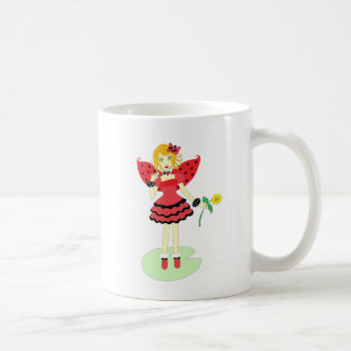 Lady Bug Fairy Basic White Mug