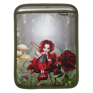 Lady Bug Fairy on Roses iPad Sleeves