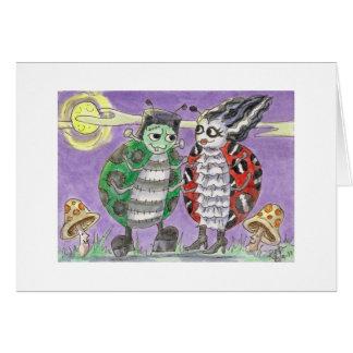 Lady Bug Halloween Frankenstein & Bride at Ball Card