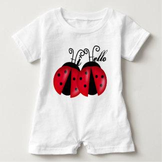 Lady Bug Hi Hello Baby Bodysuit