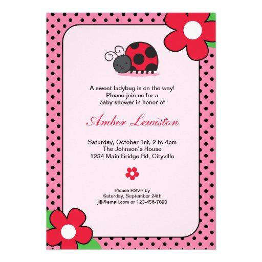 Lady Bug Invitation