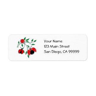 Lady Bug, Lady Bugs Return Address Label