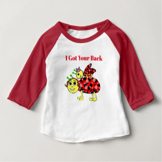 Lady Bug Love Customize Text Baby T-Shirt