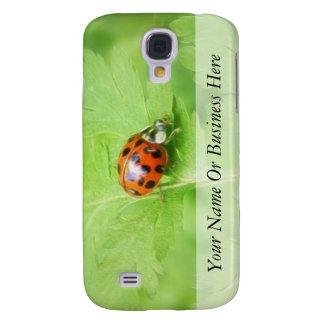 Lady Bug on Feverfew Leaf Samsung Galaxy S4 Cases