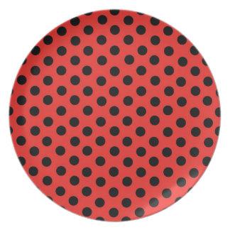 Lady Bug Polka Dots Plate