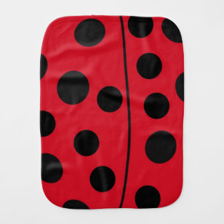 Lady Bug Red and Black Design Burp Cloth
