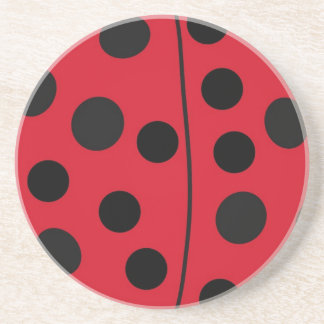 Lady Bug Red and Black Design Coaster