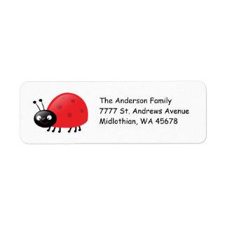Lady Bug Return Address Avery Label