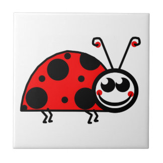 Lady Bug Small Square Tile