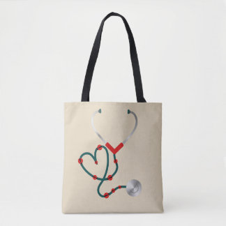 Lady Bug Stethoscope Tote Bag