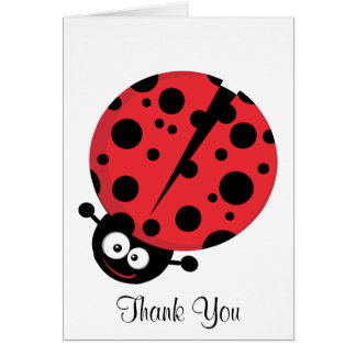 Lady Bug Thank You Note Card