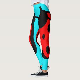 Lady Bug Turquoise Leggings