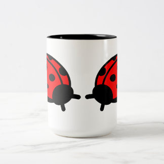 Lady Bug White & Black Mug