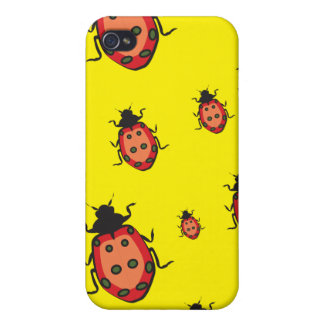 lady bug yellow iPhone 4/4S cover