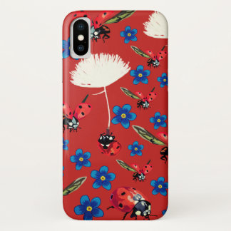 Lady bugs Apple iPhone X, Barely There iPhone X Case