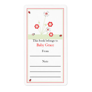Lady Bugs Bookplate