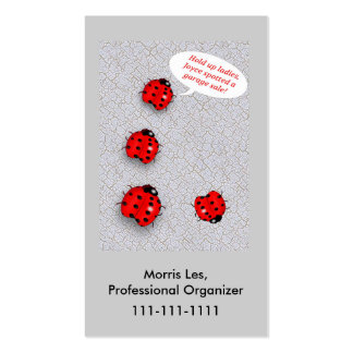 Lady Bugs Humorous Yard Sale Related Pack Of Standard Business Cards