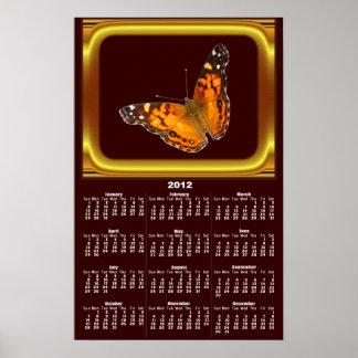 Lady Butterfly calendar ~ print