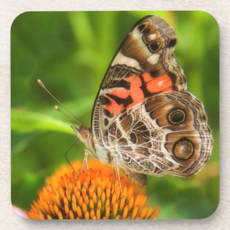 Lady Butterfly Cork Coasters