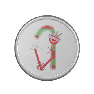Lady Candy Cane Bumpster Speakers Bluetooth Speaker